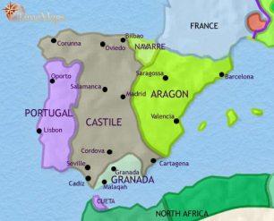 Map Of Spain Under Muslim Rule.Spain Travel With Me